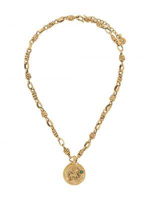 Złoty naszyjnik turkusowy Goossens