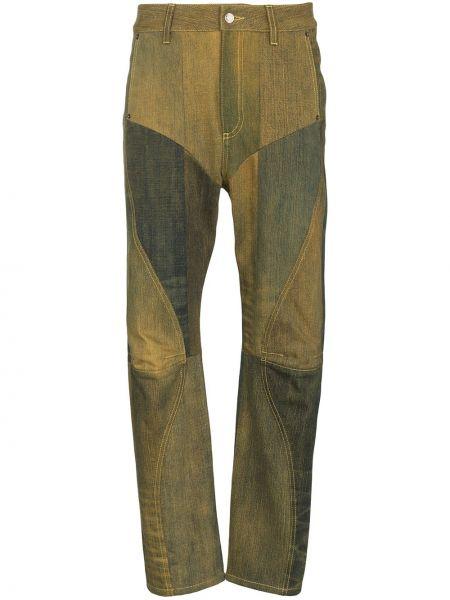 Прямые джинсы на молнии пэчворк Marine Serre