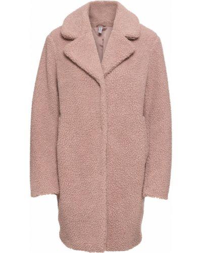 Розовая плюшевая утепленная куртка Bonprix