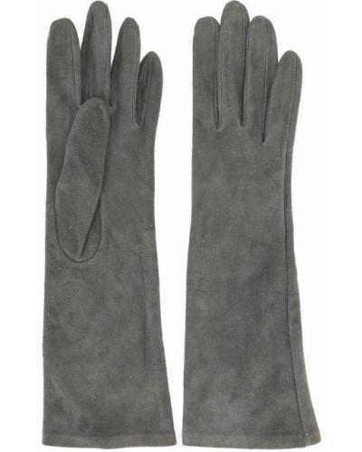 Кожаные перчатки - серые Yves Saint Laurent Vintage