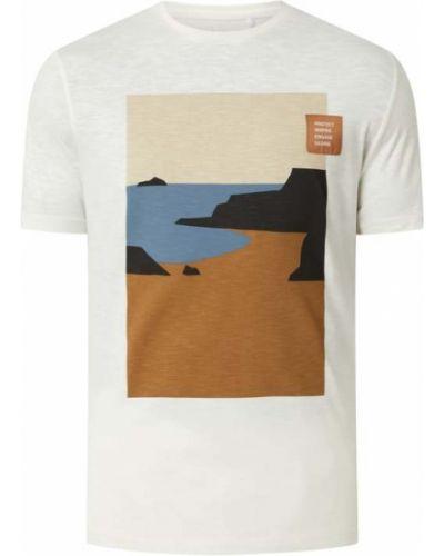 T-shirt z printem - biała S.oliver Red Label