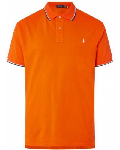 Pomarańczowa polo bawełniana w paski Polo Ralph Lauren Big & Tall