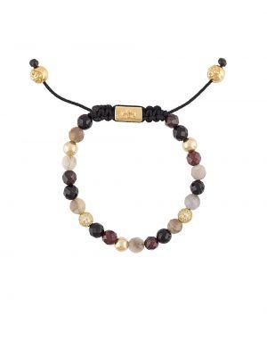 Черный золотой браслет с бисером Nialaya Jewelry