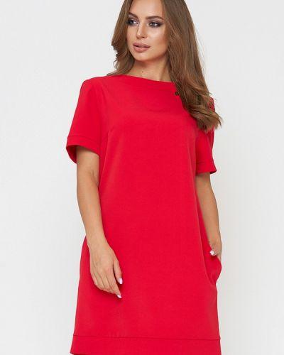 Повседневное платье весеннее красный Sellin