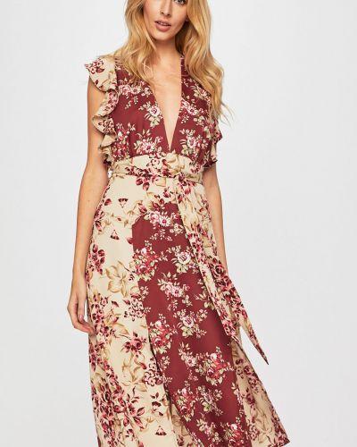 Платье расклешенное с V-образным вырезом Glamorous