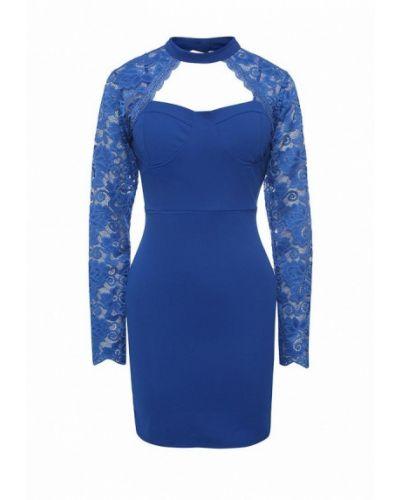 Синее коктейльное платье Aurora Firenze