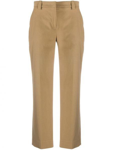 Прямые хлопковые укороченные брюки с потайной застежкой Pt01