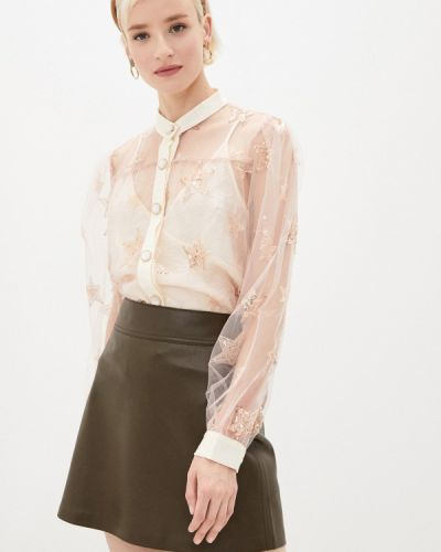 Бежевая кружевная блузка Sister Jane
