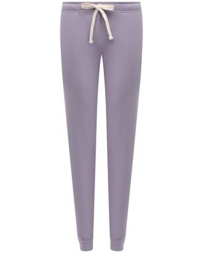 Фиолетовые хлопковые брюки Monrow