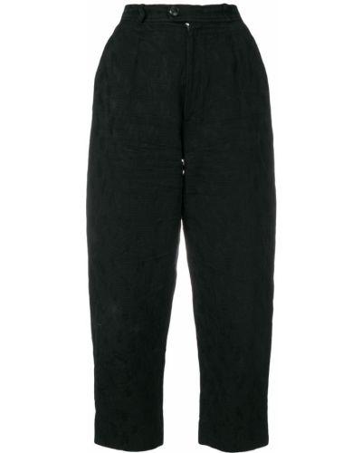 Укороченные брюки - черные Yves Saint Laurent Vintage