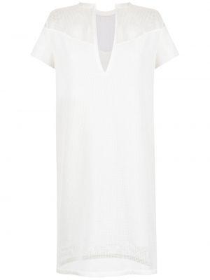 Белое платье с декольте Gloria Coelho