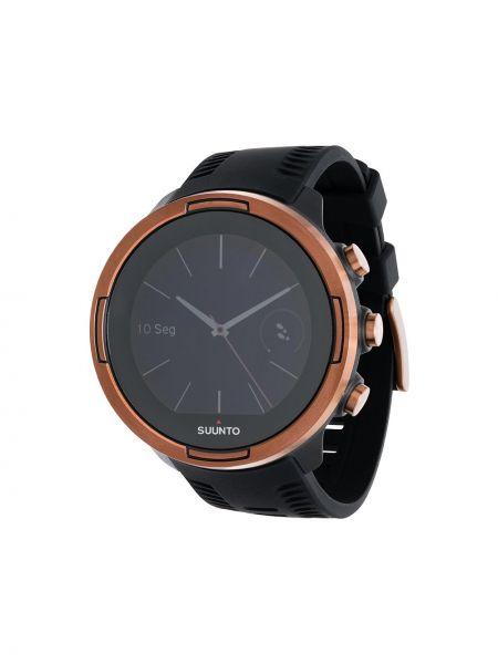 Czarny sport zegarek srebrny szafir Suunto