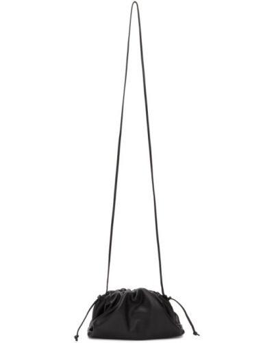 С ремешком черный клатч из натуральной кожи Bottega Veneta
