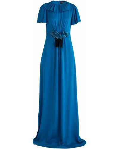 Вечернее платье макси со складками Gucci