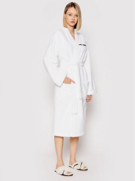 Szlafrok - biały Karl Lagerfeld