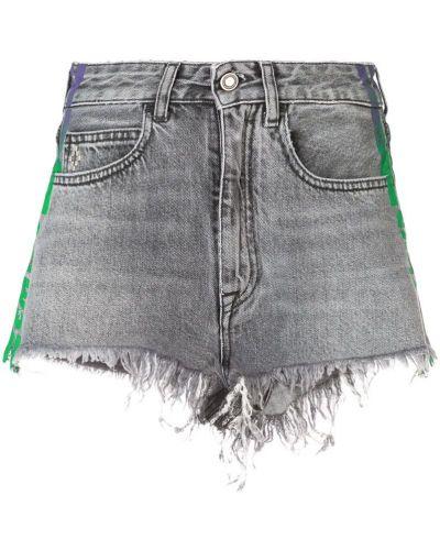 Рваные джинсовые шорты - серые Marcelo Burlon. County Of Milan