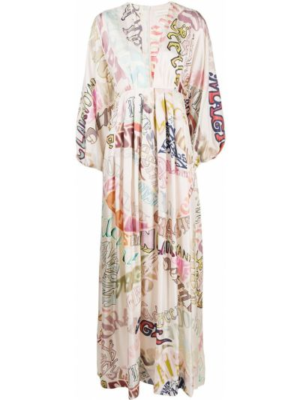 Платье макси с длинными рукавами Zimmermann