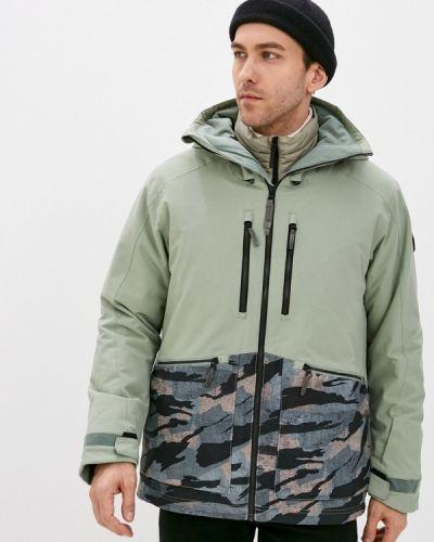 Зеленая куртка горнолыжная сноубордическая O`neill