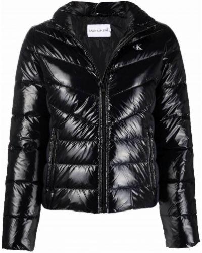 Черная джинсовая куртка с принтом Calvin Klein Jeans