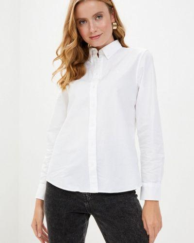 Белая рубашка с длинными рукавами Gant