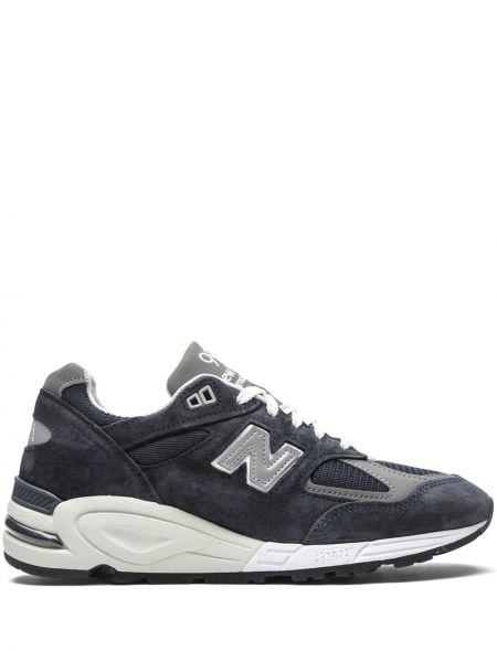 Синие кроссовки на шнуровке New Balance