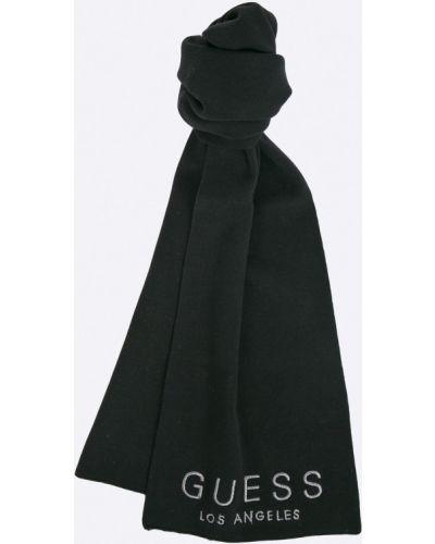 Черный шарф трикотажный Guess Jeans
