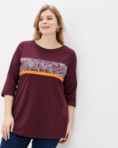 Бордовая футболка Ulla Popken