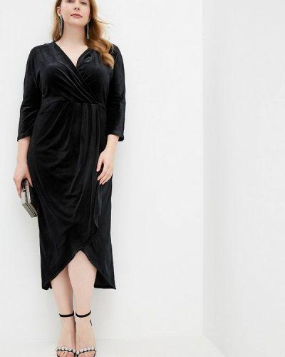 Платье с запахом черное Irina Vladi