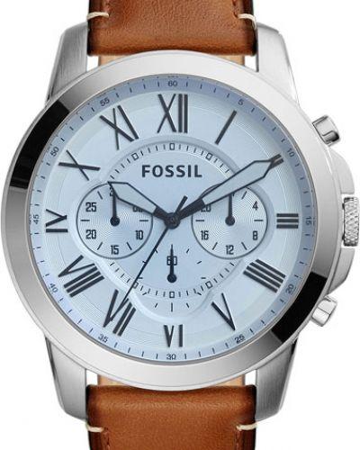 Часы водонепроницаемые с кожаным ремешком винтажные Fossil