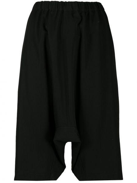 Шерстяные черные шорты до середины колена Comme Des Garçons Girl