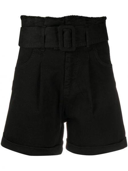 Хлопковые черные шорты с карманами Federica Tosi