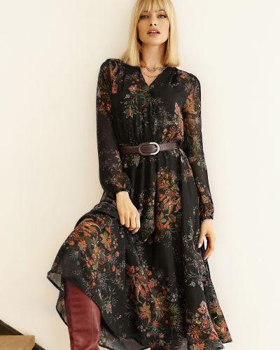 Шифоновое платье - черное Molegi