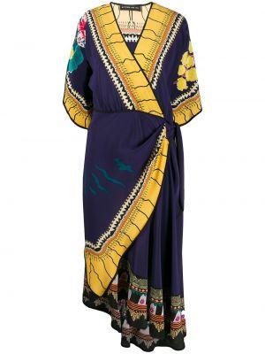 Платье миди с запахом с V-образным вырезом Etro