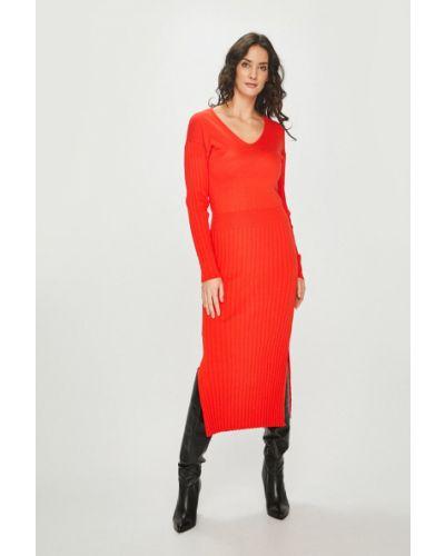 Платье с V-образным вырезом со складками Answear