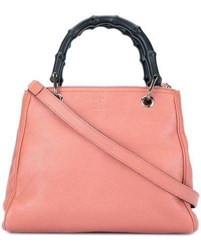 Сумка шоппер розовый маленькая Gucci Vintage