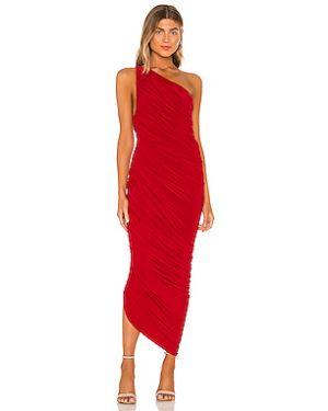 Вечернее платье с оборками с вырезом Norma Kamali