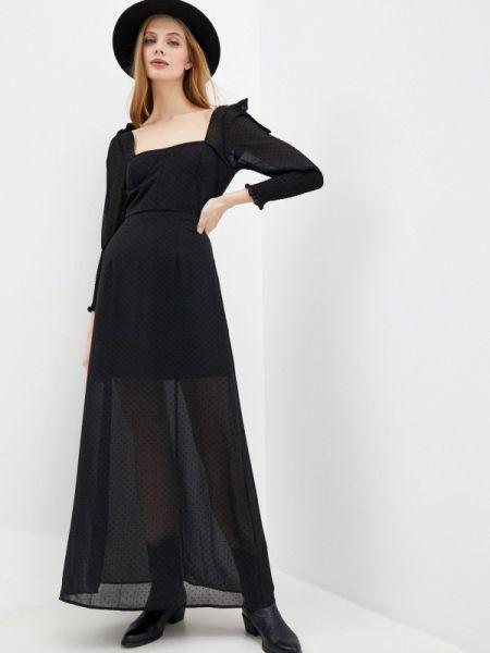 Вечернее платье черное весеннее Glamorous