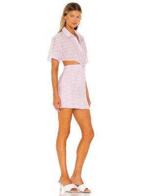 Sukienka mini bawełniana - fioletowa Lovers + Friends