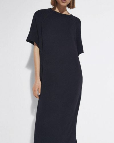 Черное трикотажное платье Massimo Dutti