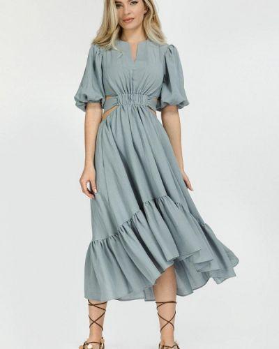 Голубое зимнее платье Clever Woman Studio