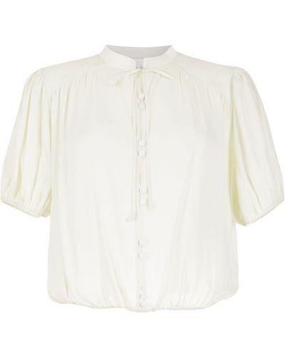Зеленая блузка короткая НК