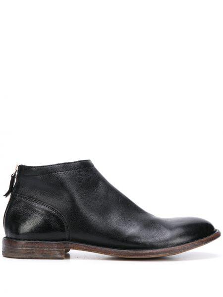 Кожаные ботинки треккинговые черные Moma