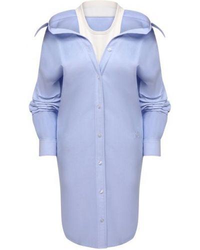 Хлопковое синее платье Alexanderwang.t