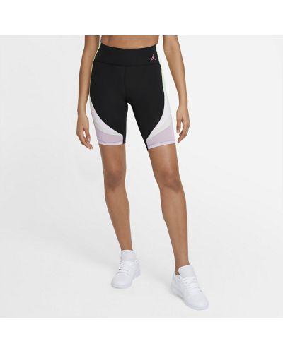 Трикотажные розовые шорты с карманами с принтом Nike