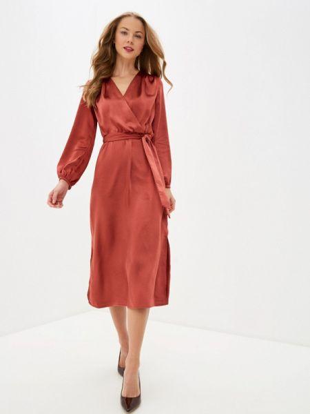 Платье коралловый прямое Zarina