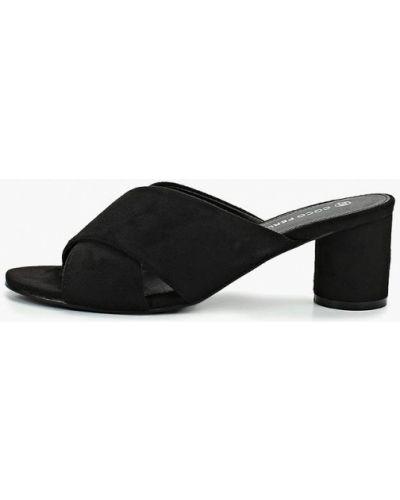 Сабо черные на каблуке Coco Perla