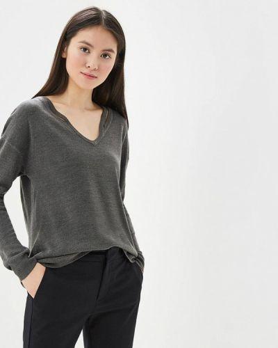 Серый пуловер Jacqueline De Yong