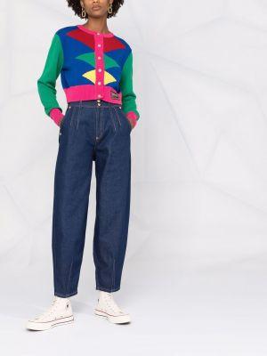 Джинсы свободного кроя - синие Versace Jeans Couture