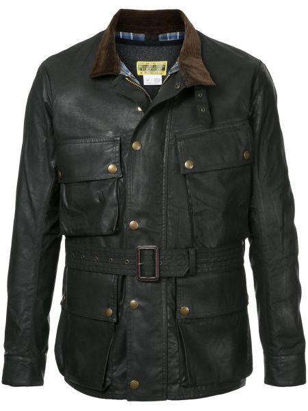 Нейлоновая черная куртка с декоративной отделкой байкерская Addict Clothes Japan