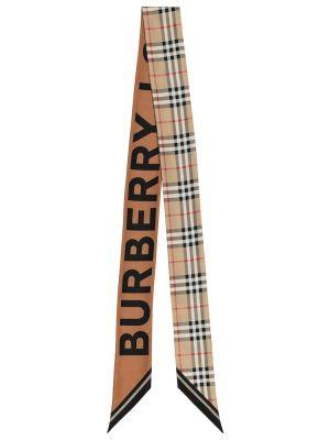 Шелковый шарф - черный Burberry